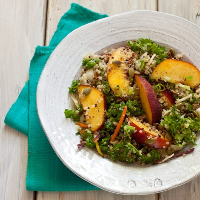 Quinoa and nectarine slaw with lemon vinaigrette