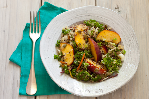 Nectarine Quinoa Slaw from Simply Vegetarian Cookbook by Susan Pridmore