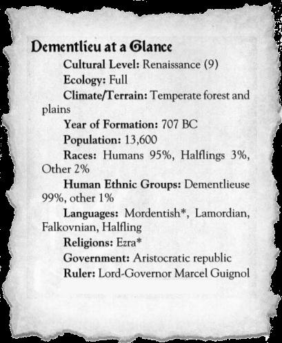 Dementlieu at a glance