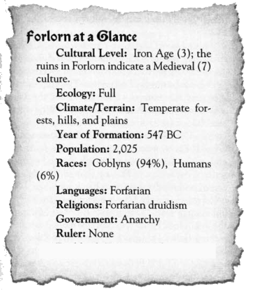 Forlorn at a glance