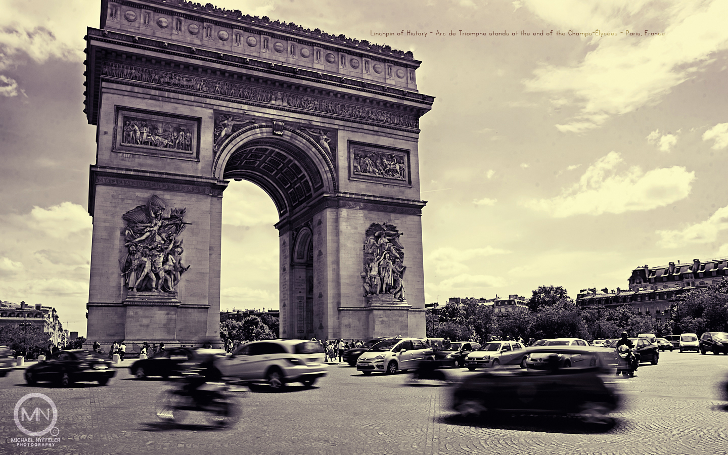 Linchpin+of+History+ +Arc+de+Triomphe+ +Paris%2C+France ⇥Downloads