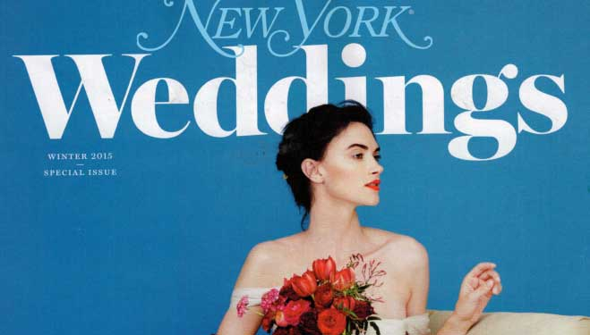 New York Magazine Weddings – Winter 2015