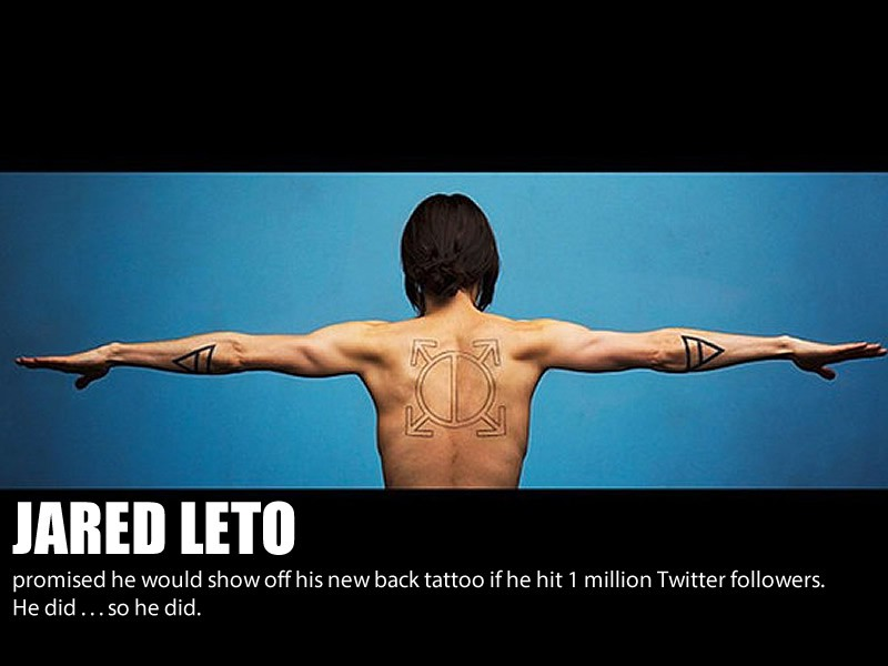 JARED LETO's Awesome back tattoo