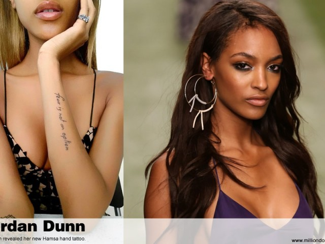 Jordan Dunn revealed her new Hamsa hand tattoo
