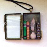 Secret Library Locket Mini Bookshelf Pendant
