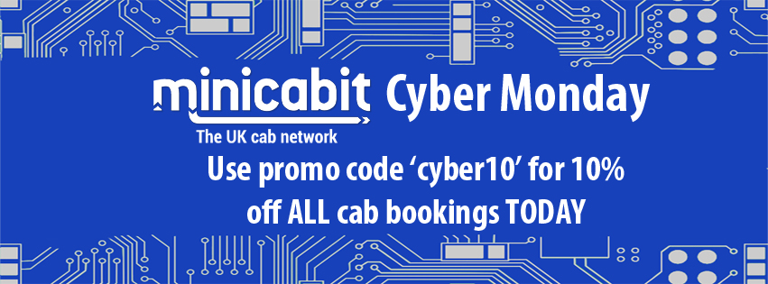 Cyber Monday - Save 10% on all cab bookings today!