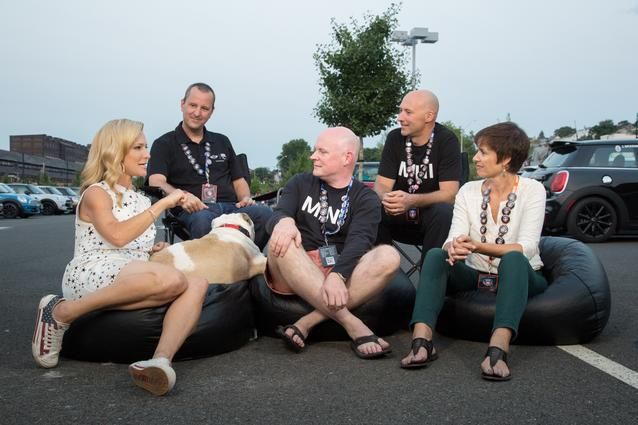 Three-time Emmy Award winning TV host Cat Greenleaf interviewed senior members of the MINI USA management team, David Duncan, Pat McKenna, Tom Salkowsky and Caryn Grun, about why MINI USA stages the event and what it means to the brand and its customers.