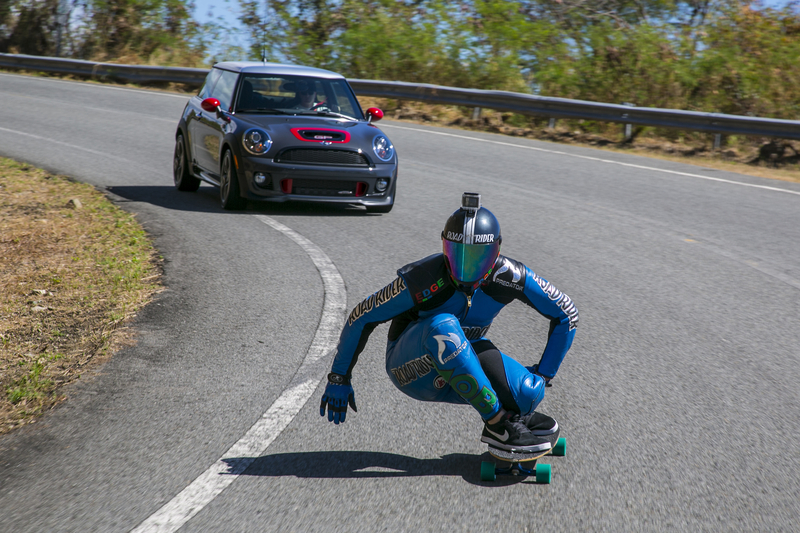 MINI John Cooper Works GP and Kyle Wester, Professional Downhill Skateboarder Currently Ranked 6th Overall in the Downhill World Cup Standings.
