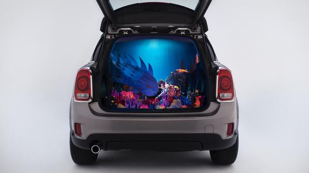 "Kirsten Lepore's aquatic adventure ""Underwater"" in the back of a MINI Countryman"