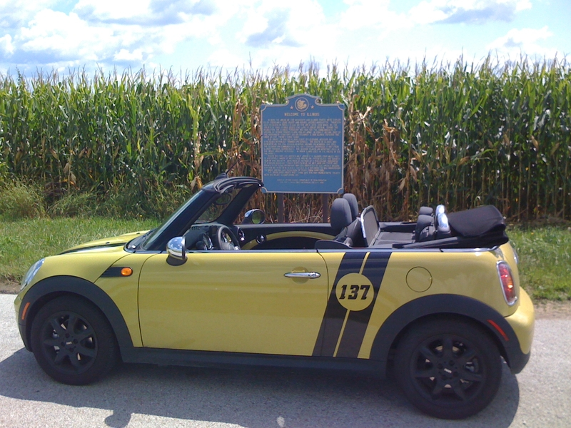 Open One Challenge Winner - David Loveall's MINI Cooper Covertible - Illinois Corn field