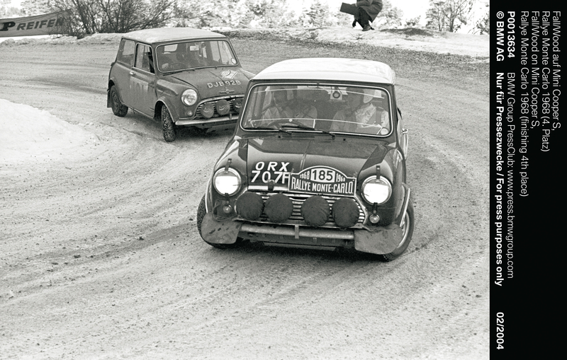 Fall/Wood on Mini Cooper S, Rallye Monte Carlo 1968 (finishing 4th place) (01/2004)<br />