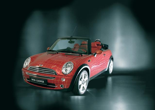Das MINI Cabrio designed by Gianfranco Ferré auf dem Life Ball 2004 (05/2004)