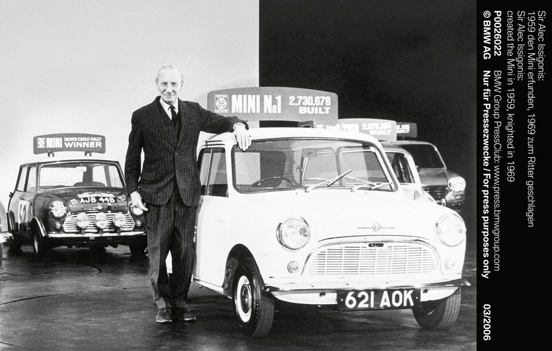Sir Alec Issigonis: created the Mini in 1959, knighted in 1969 (03/2006)<br />