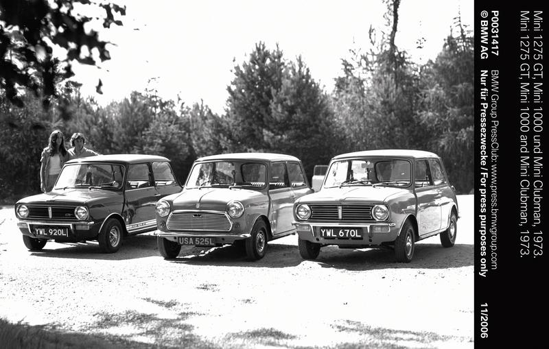 Mini 1275 GT, Mini 1000 and Mini Clubman, 1973 (11/2006)<br />