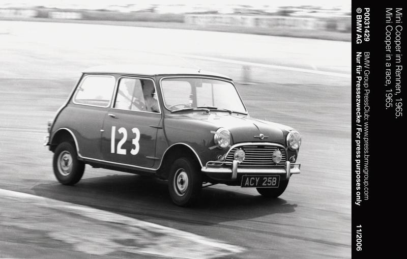 Mini Cooper in a race, 1965 (11/2006)<br />