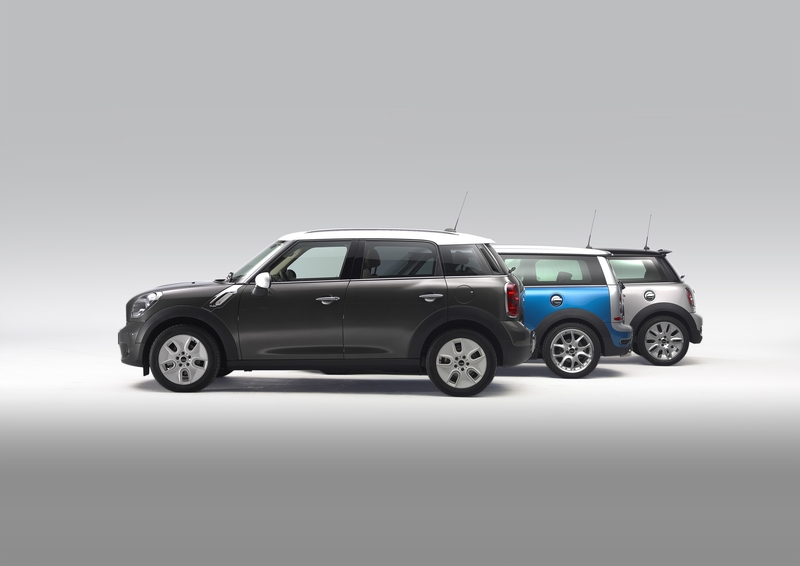 MINI Cooper D Countryman, the MINI Cooper S Clubman, the MINI Cooper S Hardtop<br />
