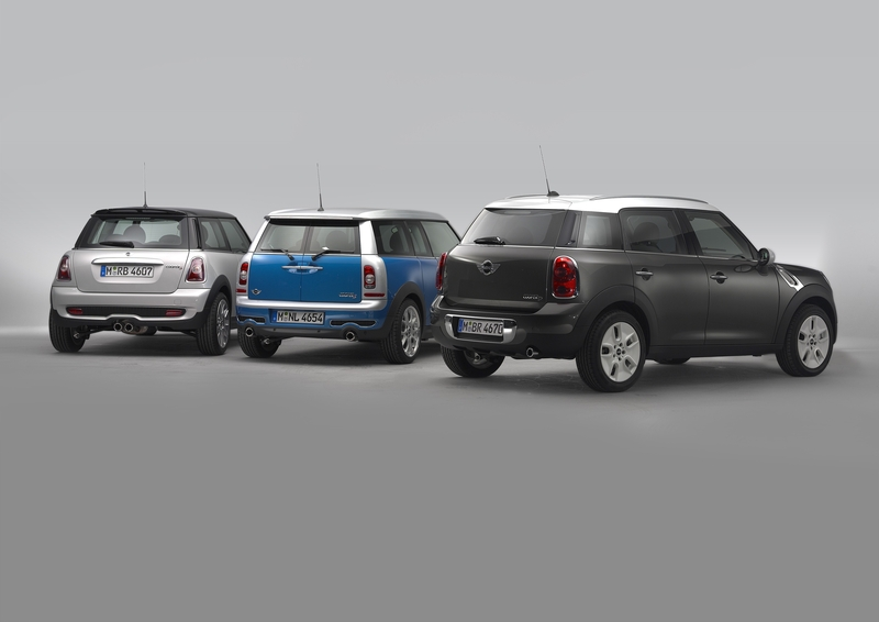 MINI Cooper S Hardtop, the MINI Cooper S Clubman, and the MINI Cooper D Countryman<br />