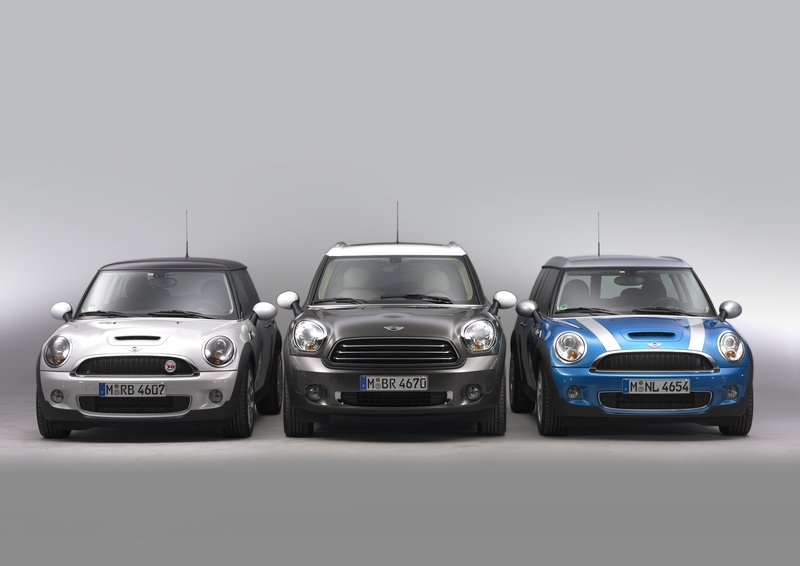 MINI Cooper S Hardtop, the MINI Cooper D Countryman, and the MINI Cooper S Clubman<br />