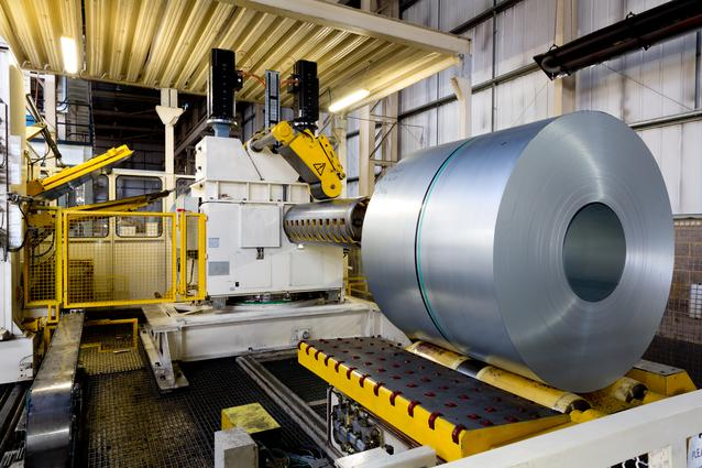 Coils of steel ready to be pressed at MINI Plant Swindon.