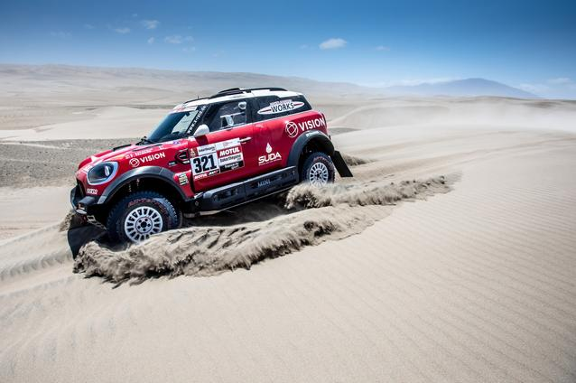 2019 Dakar Rally, Stage 6, Boris Garafulic (CHL), Filipe Palmeiro (POR) - MINI John Cooper Works Rally - X-raid MINI John Cooper Works Rally Team, #321- 13.01.2019