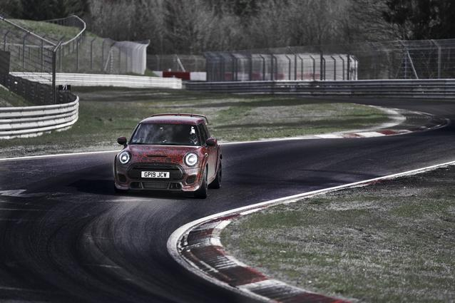 WARM-UP ON THE NORDSCHLEIFE: THE NEW MINI JOHN COOPER WORKS GP.<br />