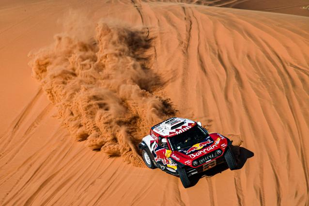 Munich (GER), 17th January 2020. Dakar Rally, Saudi Arabia, MINI JCW Buggy, Stéphane Peterhansel.