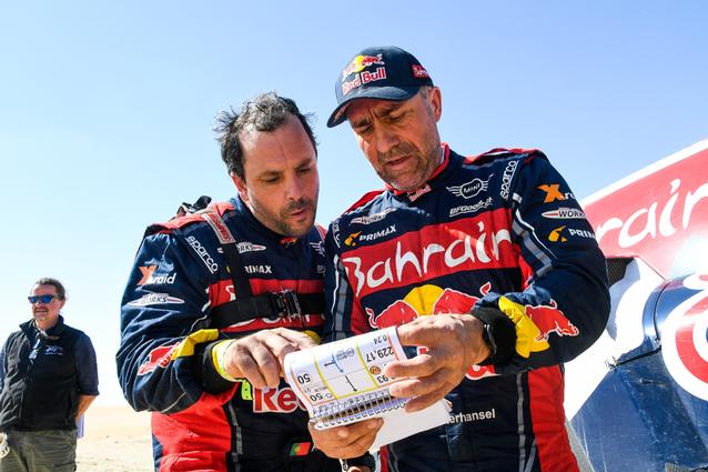Munich (GER), 17th January 2020. Dakar Rally, Saudi Arabia, MINI JCW Buggy, Stéphane Peterhansel, Paulo Fiuza.