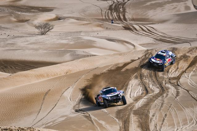 Munich (GER), 15th January 2021. Dakar Rally, MINI Motorsport, X-raid, Saudi Arabia, MINI John Cooper Works Buggy, Stéphane Peterhansel, Carlos Sainz.<br />