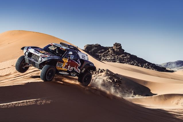 Munich (GER), 15th January 2021. Dakar Rally, MINI Motorsport, X-raid, Saudi Arabia, MINI John Cooper Works Buggy, Stéphane Peterhansel.<br />