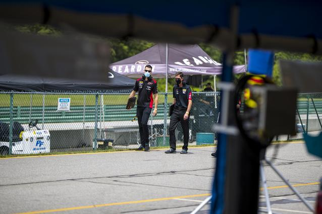The MINI JCW Team practices for the upcoming SRO TC America race weekend at Virginia International Raceway. <br /> Photo Credit: Images courtesy of the MINI JCW Race Team/LAP Motorsports LLC via Halston Pitman