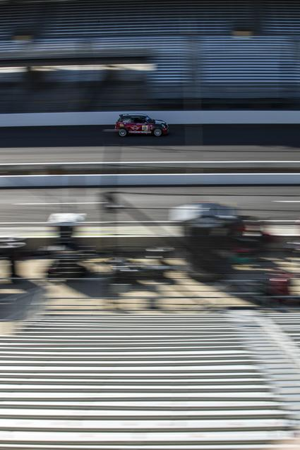 The MINI JCW Team hits the track for the SRO TC America season finale at Indianapolis Motor Speedway.Photo Credit: Images courtesy of the MINI JCW Race Team/LAP Motorsports LLC via Halston Pitman.