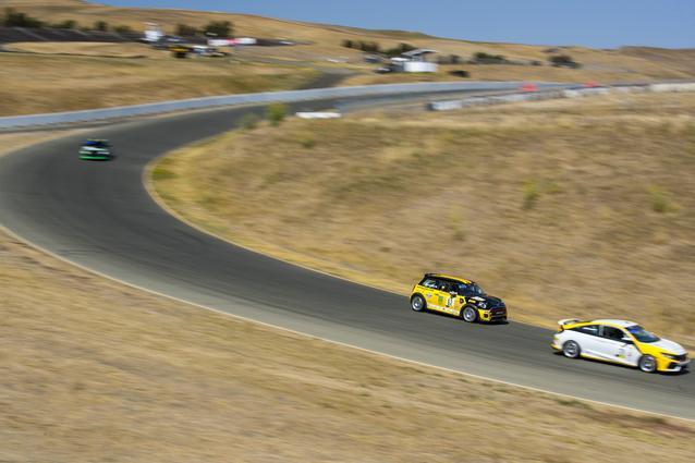 The MINI JCW Team hit the track for the SRO TC America race weekend at Sonoma Raceway. Photo Credit: Images courtesy of the MINI JCW Race Team/LAP Motorsports LLC via Halston Pitman.