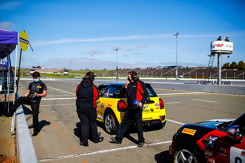 The MINI JCW Team took three podiums at the 2021 SRO TC America opening race weekend at Sonoma Raceway.Photo Credit: Images courtesy of the MINI JCW Race Team/LAP Motorsports LLC via Halston Pitman