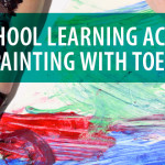 Preschool Bible Learning Activity: Painting with Toes