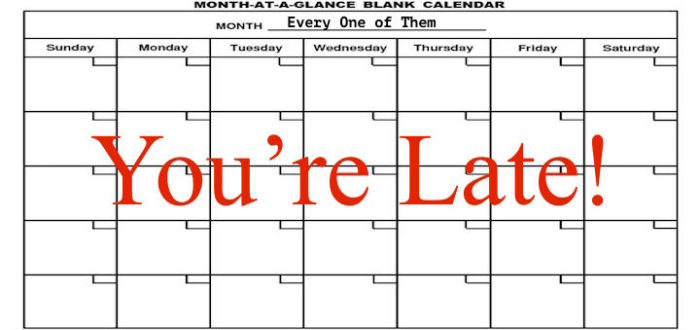 5 Times I Battle the Calendar
