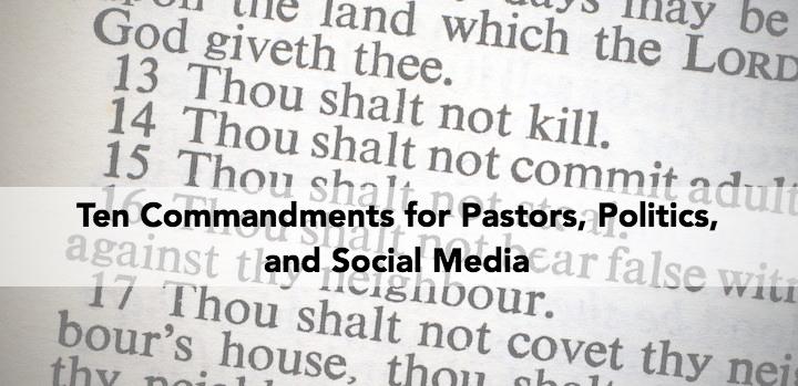 ten commandments social media