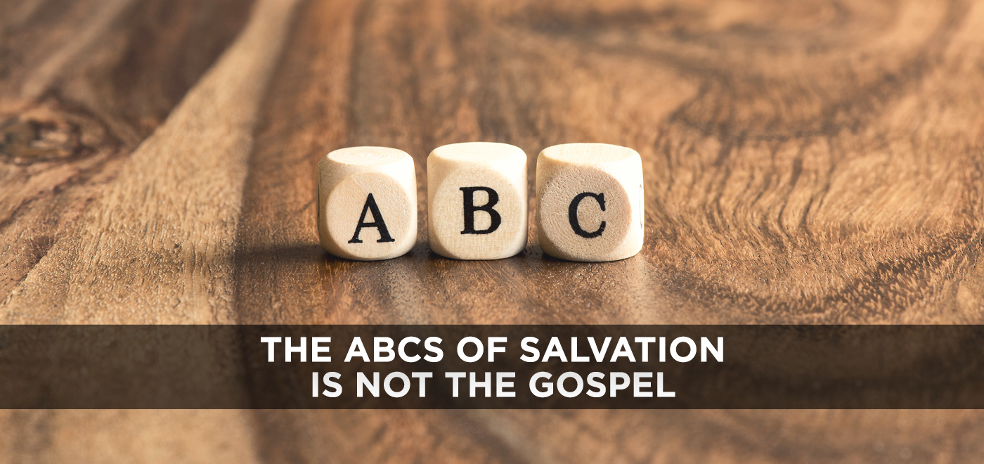 picture about Simple Plan of Salvation Printable named The ABCs of Salvation is not the Gospel - Small children Ministry