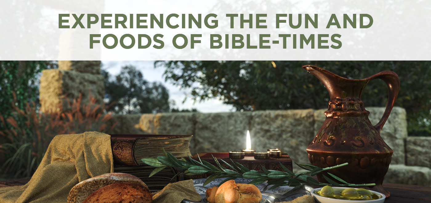 Experiencing the fun and foods of Bible-times - Kids Ministry