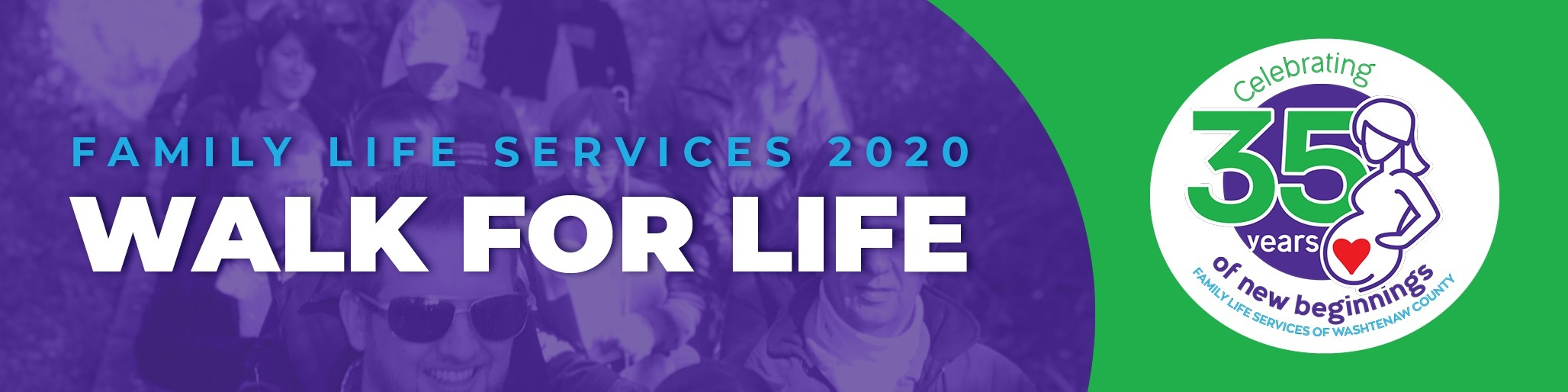 Family Life Services 2020 Walk for Life header and logo