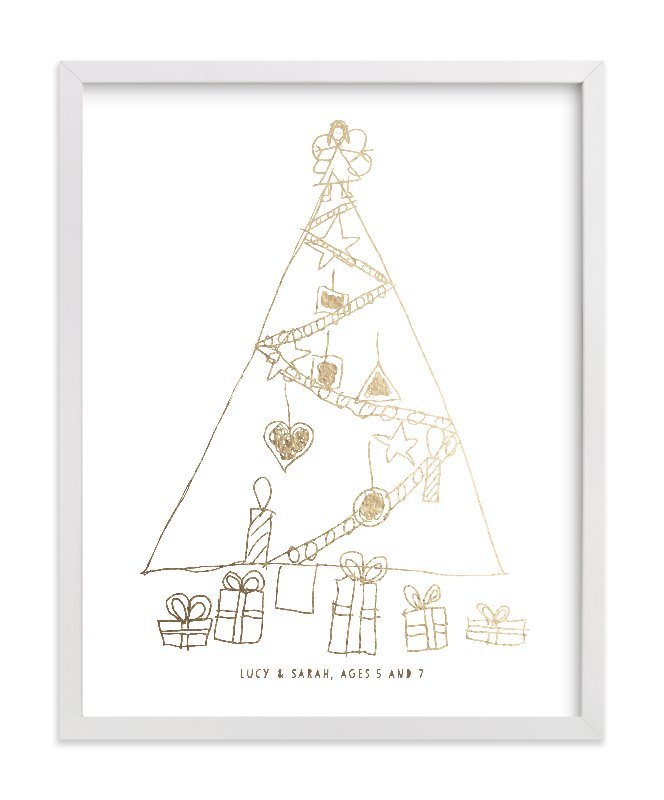 """Your Drawing as Foil Art Print"" - Drawn Foil Art by Minted in beautiful frame options and a variety of sizes."