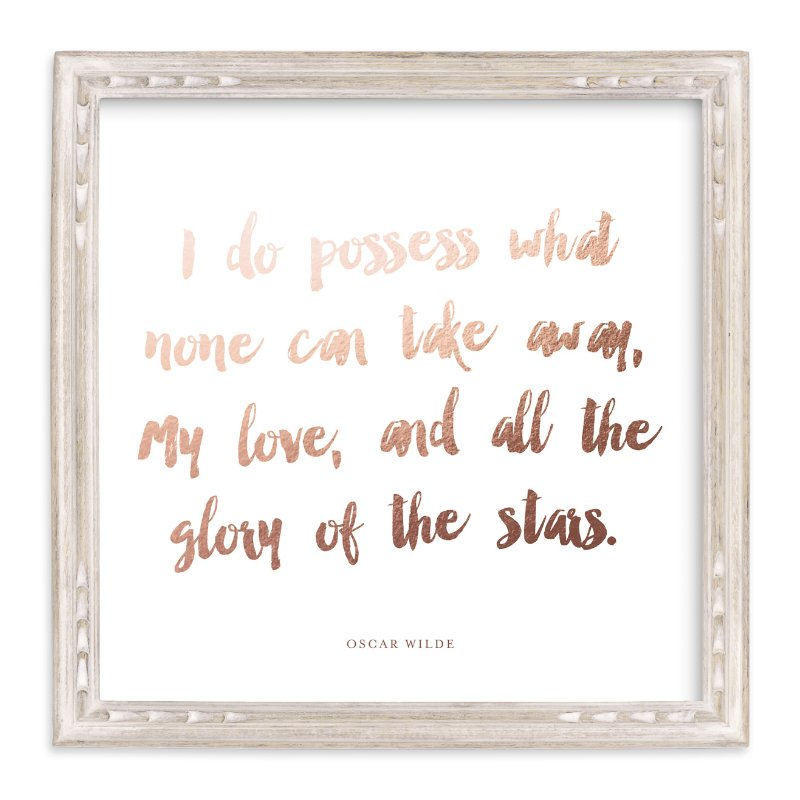 """""""A Favorite Poem as a Foil Art Print"""" - Drawn Foil Art by Minted in beautiful frame options and a variety of sizes."""