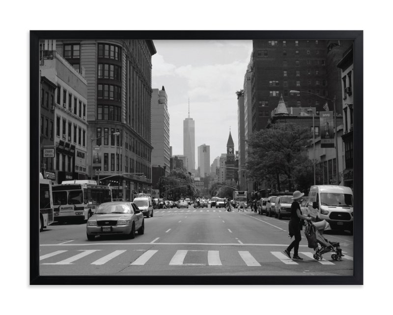 """""""New York Streets """" - Limited Edition Art Print by Kaila Keller in beautiful frame options and a variety of sizes."""