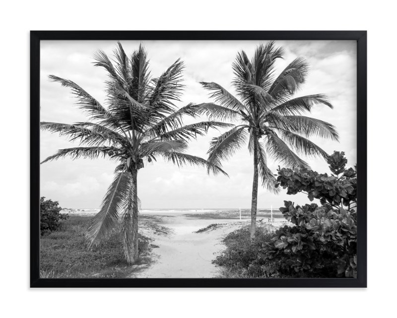 """""""Coconut gate"""" - Limited Edition Art Print by Eliane Lamb in beautiful frame options and a variety of sizes."""