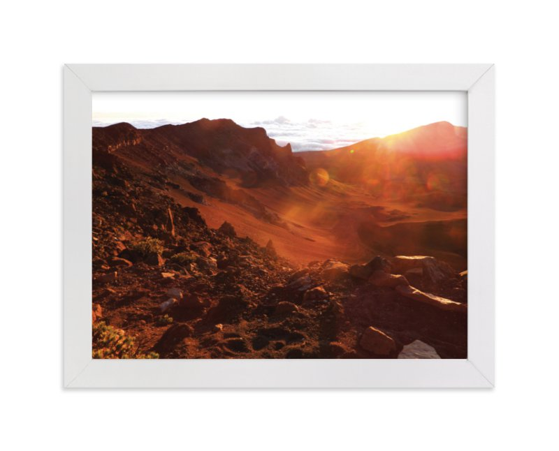 """""""Sunrise on the Crater"""" - Limited Edition Art Print by Kelsey McNatt in beautiful frame options and a variety of sizes."""