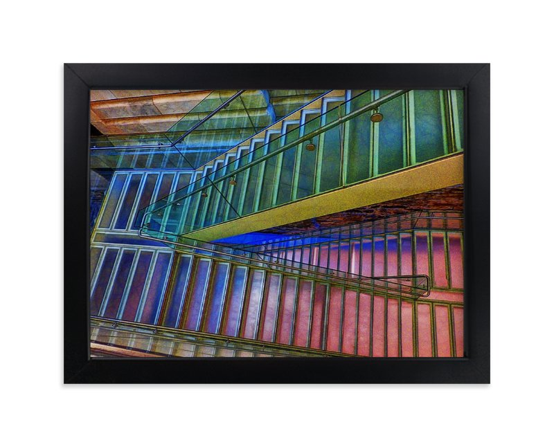 """""""Stairs NYC Library"""" - Limited Edition Art Print by Mazing Designs in beautiful frame options and a variety of sizes."""