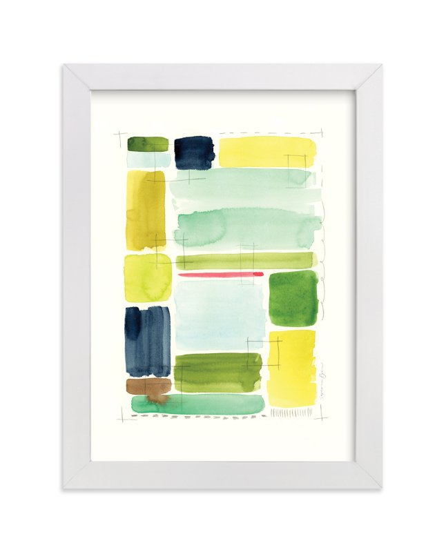 """Indigold Color Study"" - Limited Edition Art Print by Stephanie Ryan in beautiful frame options and a variety of sizes."