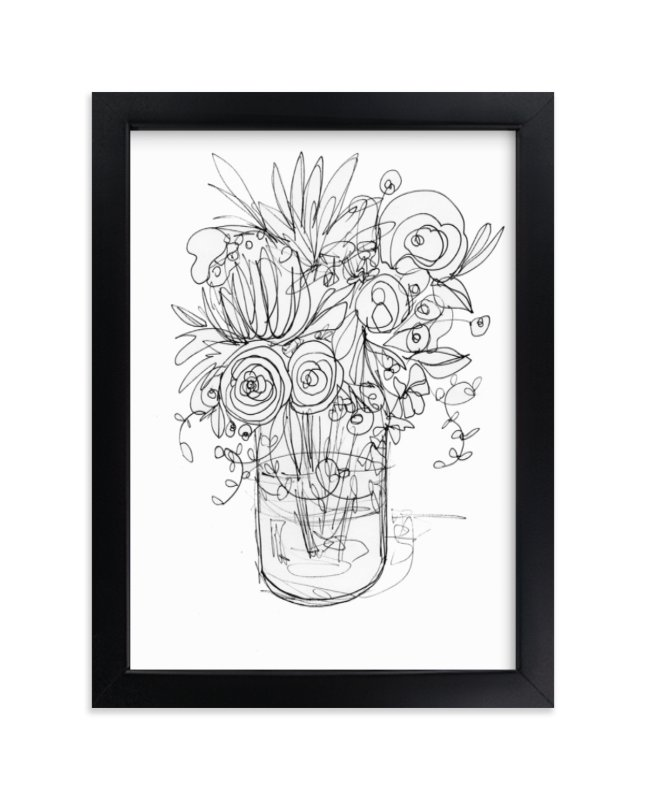 """Sketchbook bouquet II"" - Limited Edition Art Print by Kiana Mosley in beautiful frame options and a variety of sizes."