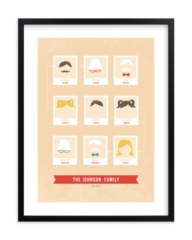 """""""Modern Family Tree"""" - Family Tree Custom Art Print by Serenity Avenue in beautiful frame options and a variety of sizes."""