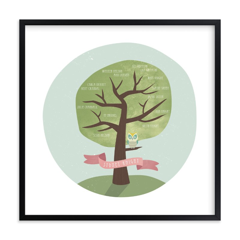 """Remember Who You Are"" - Family Tree Custom Art Print by Shasta Knight in beautiful frame options and a variety of sizes."