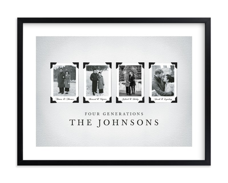 """""""Four Generations"""" - Family Tree Custom Art Print by Katie Speelman in beautiful frame options and a variety of sizes."""